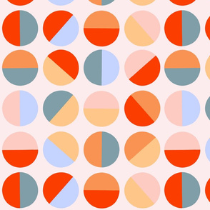 half circles in orange