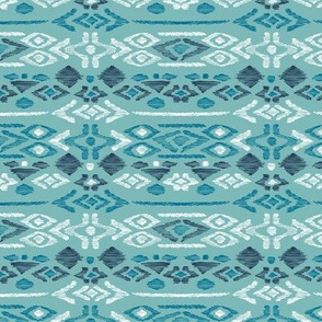 Minimal vintage mudcloth bohemian mayan abstract indian summer love aztec blue aqua