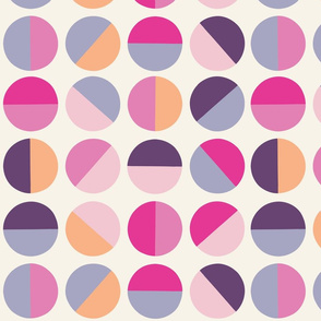 half circles in fuchsia