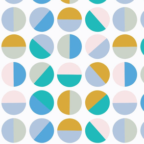 half circles in turquoise