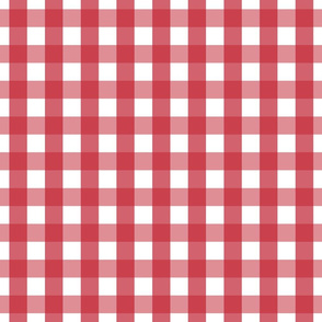 gingham 1in red