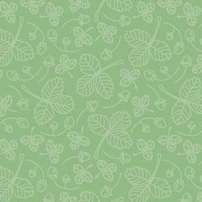 green nature blanket
