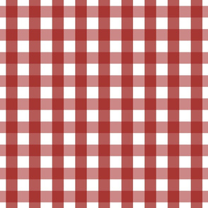 gingham 1in dark red