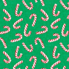 candy canes on green - LAD19
