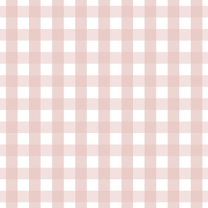 gingham 1in dusty pink