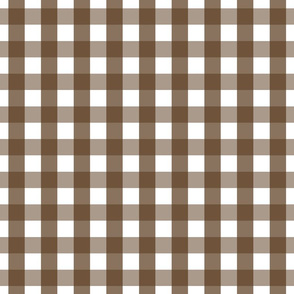 gingham 1in brown