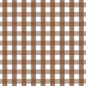 gingham 1in chocolate brown
