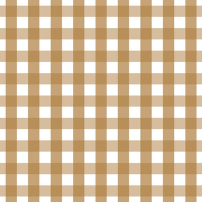 gingham 1in caramel