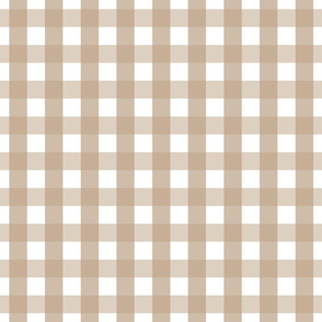 gingham 1in tan