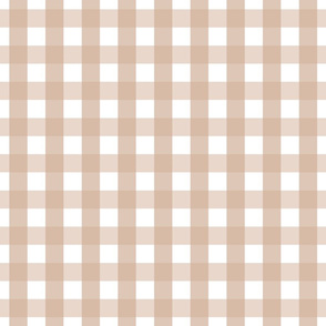 gingham 1in toasted nut