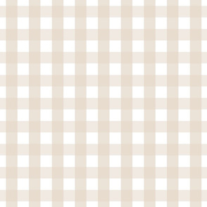 gingham 1in sand