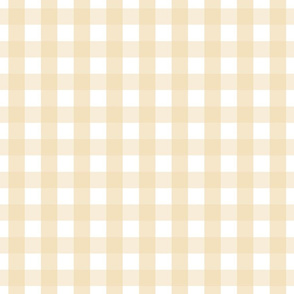 gingham 1in creamy banana