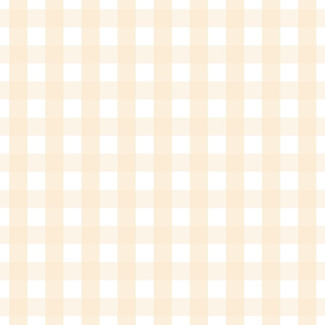 gingham 1in ivory