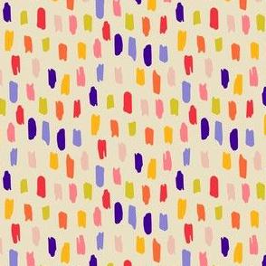 Color Strokes on Cream
