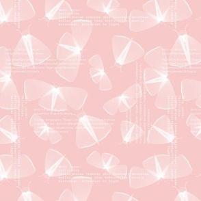 Delicate moth lines - rose quartz