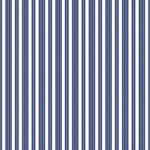 French Ticking ~ Verity Blue and White ~ Faux Terry