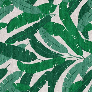 FRENCH LINEN BANANA LEAF ROTATED