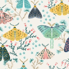 Moths in Pastels