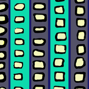 Lines and Circles Dark Gray and Blue Green