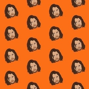 Koe wetzel fabric - country music, country music star, country musician fabric, music - orange
