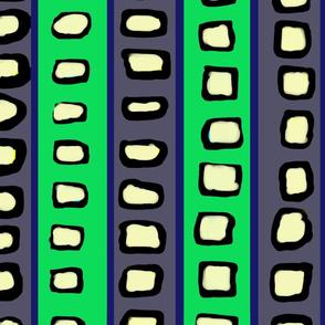 Lines and Circles Dark Gray and Green