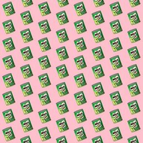 TINY - malt beverage fabric - chocolate malt, protein drink, australia - pink