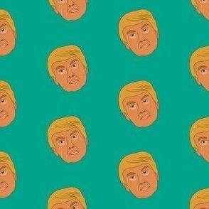 Trump fabric, USA fabric, president fabric - green
