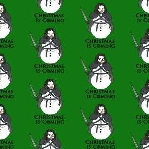 Christmas snowman fabric, got fabric, Christmas design, Xmas fabric, holiday fabric, Jon snowman - green