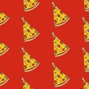 Christmas pizza tree, Christmas pizza, cute, holiday, Xmas- red