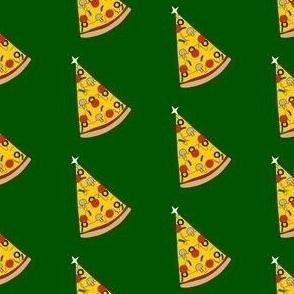 Christmas pizza tree, Christmas pizza, cute, holiday, Xmas- green