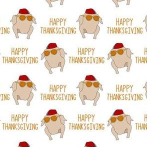 Friends thanksgiving fabric - happy thanksgiving turkey