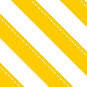 diagonal dotted stripes - yellow