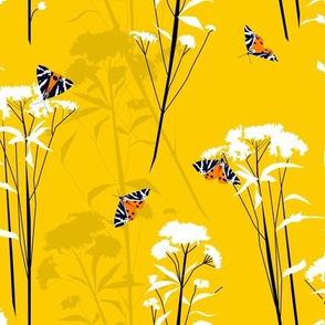 jersey tiger moths and flowers