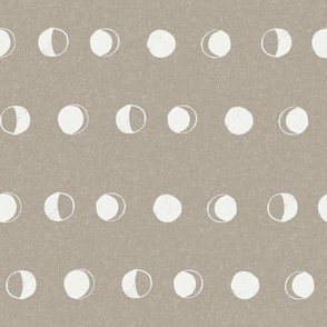 moon phase fabric - taupe sfx0906 - moon fabric, nursery fabric, baby fabric, boho fabric, witch fabric, muted fabric, earth toned fabric, muted colors