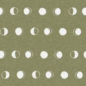 moon phase fabric - iguana sfx0525 - moon fabric, nursery fabric, baby fabric, boho fabric, witch fabric, muted fabric, earth toned fabric, muted colors