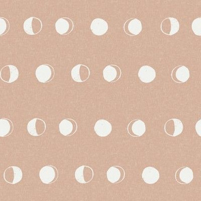 moon phase fabric - almond sfx1213 - moon fabric, nursery fabric, baby fabric, boho fabric, witch fabric, muted fabric, earth toned fabric, muted colors