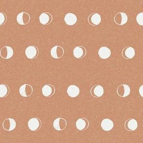 moon phase fabric - sandstone sfx1328 - moon fabric, nursery fabric, baby fabric, boho fabric, witch fabric, muted fabric, earth toned fabric, muted colors