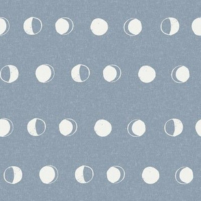 moon phase fabric - denim sfx4013 - moon fabric, nursery fabric, baby fabric, boho fabric, witch fabric, muted fabric, earth toned fabric, muted colors
