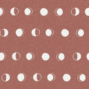 moon phase fabric - redwood sfx1443 - moon fabric, nursery fabric, baby fabric, boho fabric, witch fabric, muted fabric, earth toned fabric, muted colors