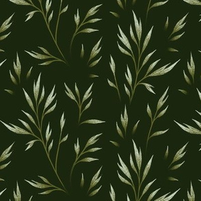 Delicate Leaves - Camo Green