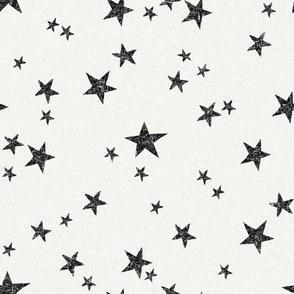 stars fabric - black - sfx0000 - star fabric, nursery fabric, baby fabric, simple fabric, minimal fabric, baby design