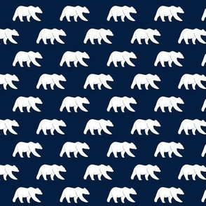 (small scale) bear on navy || the bear creek collection  C19BS