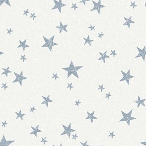 stars fabric - denim - sfx4013 - star fabric, nursery fabric, baby fabric, simple fabric, minimal fabric, baby design
