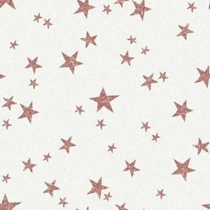 stars fabric - redwood - sfx1443 - star fabric, nursery fabric, baby fabric, simple fabric, minimal fabric, baby design