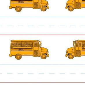 Bus School Stripes