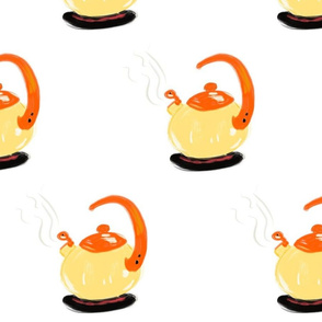 Yellow Happy Tea Pot