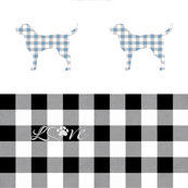 Dog Love Cheater Quilt 1 or 2 Yard Print