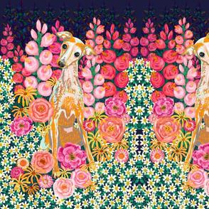 """Garden Hound Portrait 12""""x18"""""""
