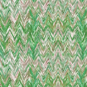 Painted Chevron, green