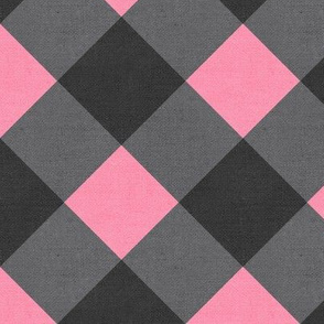 Sleepy Series Pink Gingham Dark Jumbo